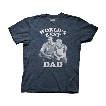 National Lampoons Vacation Worlds Best Dad Adult T-Shirt Heather (Best Solo Vacations For Men)