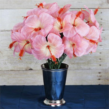 Efavormart 60 Pcs Artificial Hibiscus Flowers For Diy Wedding