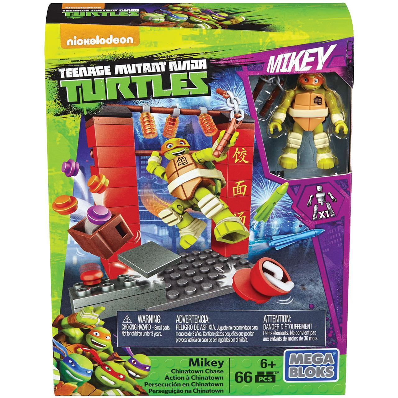Mega Bloks DPW79 Teenage Mutant Ninja Turtles Michelangelo Chinatown Chase by Mega Bloks