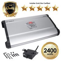 Car Amplifiers - ST-2400.5 2400 Watt 5 Channels Class AB Amp 2/4 Ohm + Bass Knob