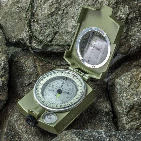 BALIGHT US Metal Pocket Army Style Compass Military Camping Hiking Outdoor Survival Tool