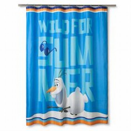 Disney Frozen Olaf Fabric Shower Curtain Kids Wild For Summer Bath