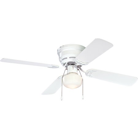 Mainstays 42 ceiling fan with light kit white walmart mainstays 42 ceiling fan with light kit white aloadofball Images