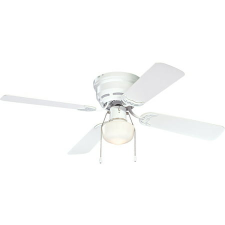 Mainstays 42 Quot Ceiling Fan With Light Kit White Walmart Com