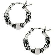 Sterling Silver 16mm Bali Hoop Earrings
