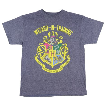 Harry Potter Big Boys Wizard In Training Navy Heather T-shirt](Navy Blue Suits For Boys)