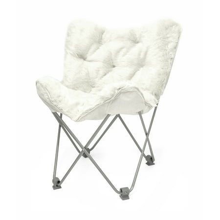 Urban Shop Luxe Mongolian Faux Fur Butterfly Chair