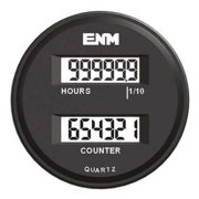 ENM T39FC48 Hour Meter/ Counter,6 Digits,LCD