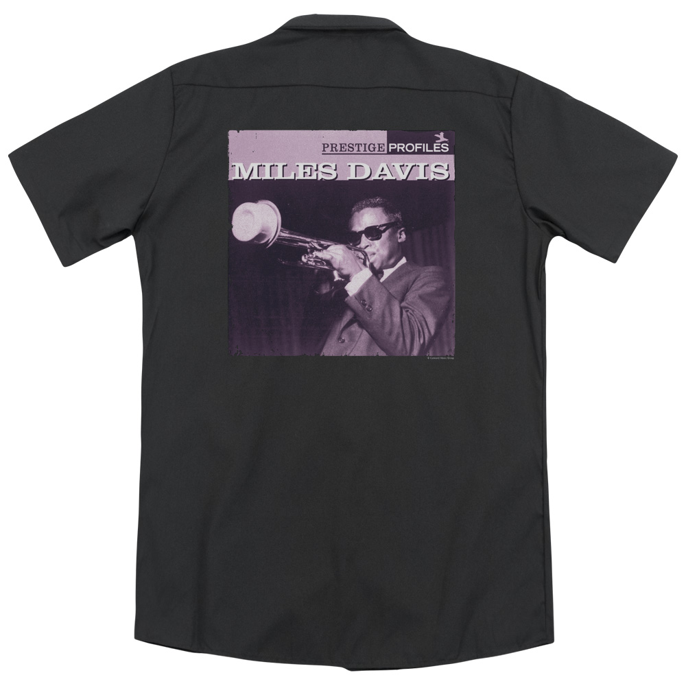 Miles Davis Prince (Back Print) Mens Work Shirt