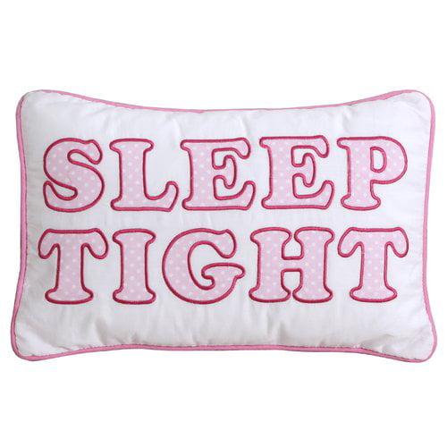Zoomie Kids Centeno Cute Letter Decorative 100pct Cotton Lumbar Pillow