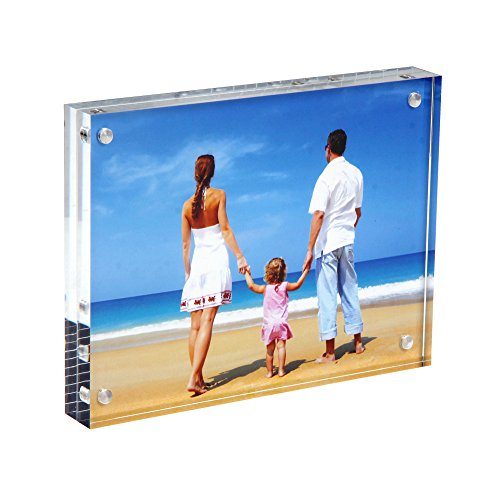 Clear Acrylic Photo Frame 8x10 50 Thicker Magnetic Acrylic Block