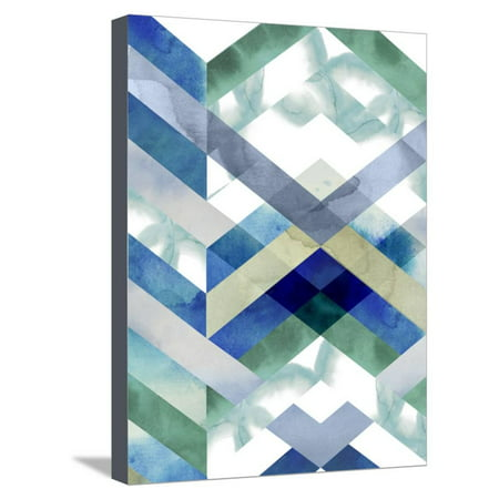 Crystal Chevron I Stretched Canvas Print Wall Art By Grace Popp ()
