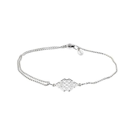 Alex And Ani Endless Knot Pull Chain Silver One Size Necklace PC14SPN02S 1/2 Sterling Silver Jewelry