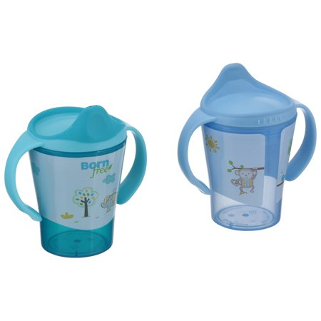 Born Free Drinking Cup Spouts (Born Free Grow With Me Hard Spout Trainer Sippy Cup - 2 pack )