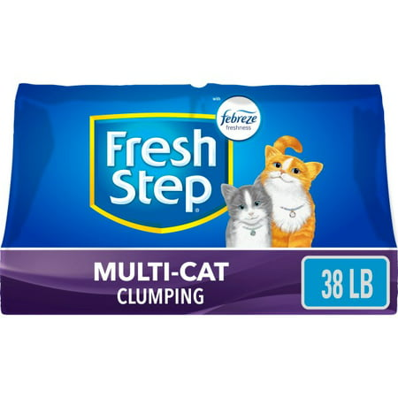 Fresh Step Multi-Cat Scented Litter with the Power of Febreze, Clumping Cat Litter, 38 Pounds Multi Cat Litter