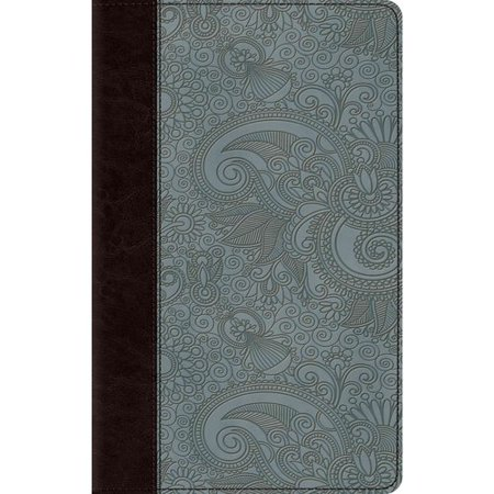 Holy Bible: English Standard Version, Chocolate/Blue TruTone, Garden, Thinline