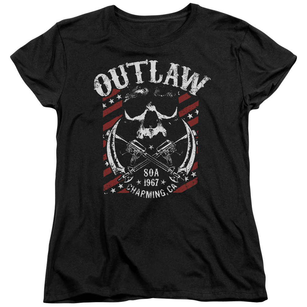 Sons Of Anarchy Outlaw Womens Short Sleeve Shirt