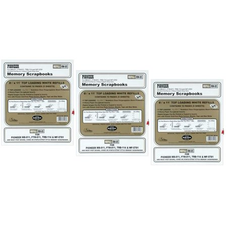 Bulk Buy Pioneer Postbond Top Loading Page Protectors 5pkg 85x11