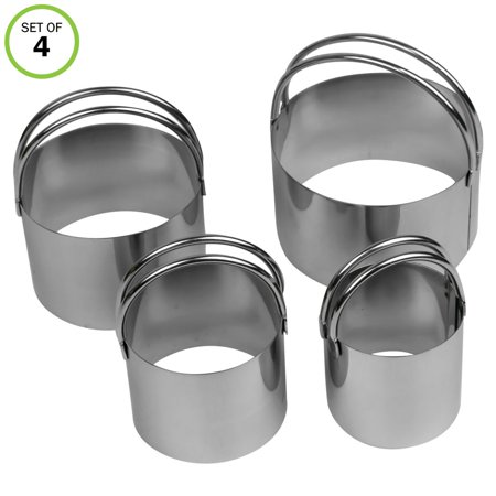 Evelots Cookie Cutter-Biscuit-Stainless Steel-Easy to Use Handles-4 Sizes-Set/4](Minnie Mouse Cookie Cutter Walmart)