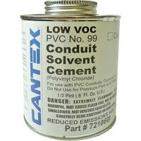 CEMENT PVC CONDUIT 1/2PT by CANTEX MfrPartNo 7210601
