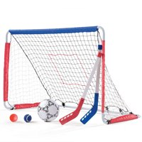 Step2 Lightweight Backyard Soccer Goal & Pitchback Set For Kids