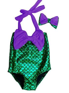 Kids Girls Mermaid Bikini Swimwear Bathing Swimsuit Beachwear Swimming Costumes