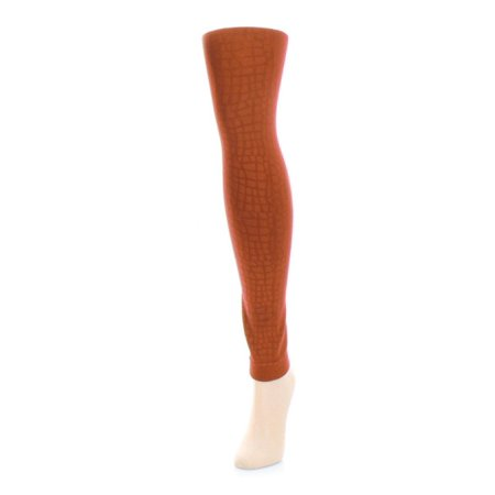 MeMoi Snakeskin Fleece Footless Tights Medium/Large / Arabian Spice MF4 227