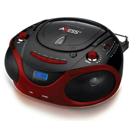 Axess Portable Boombox With Am Fm Radio And Mp3 Cd Player