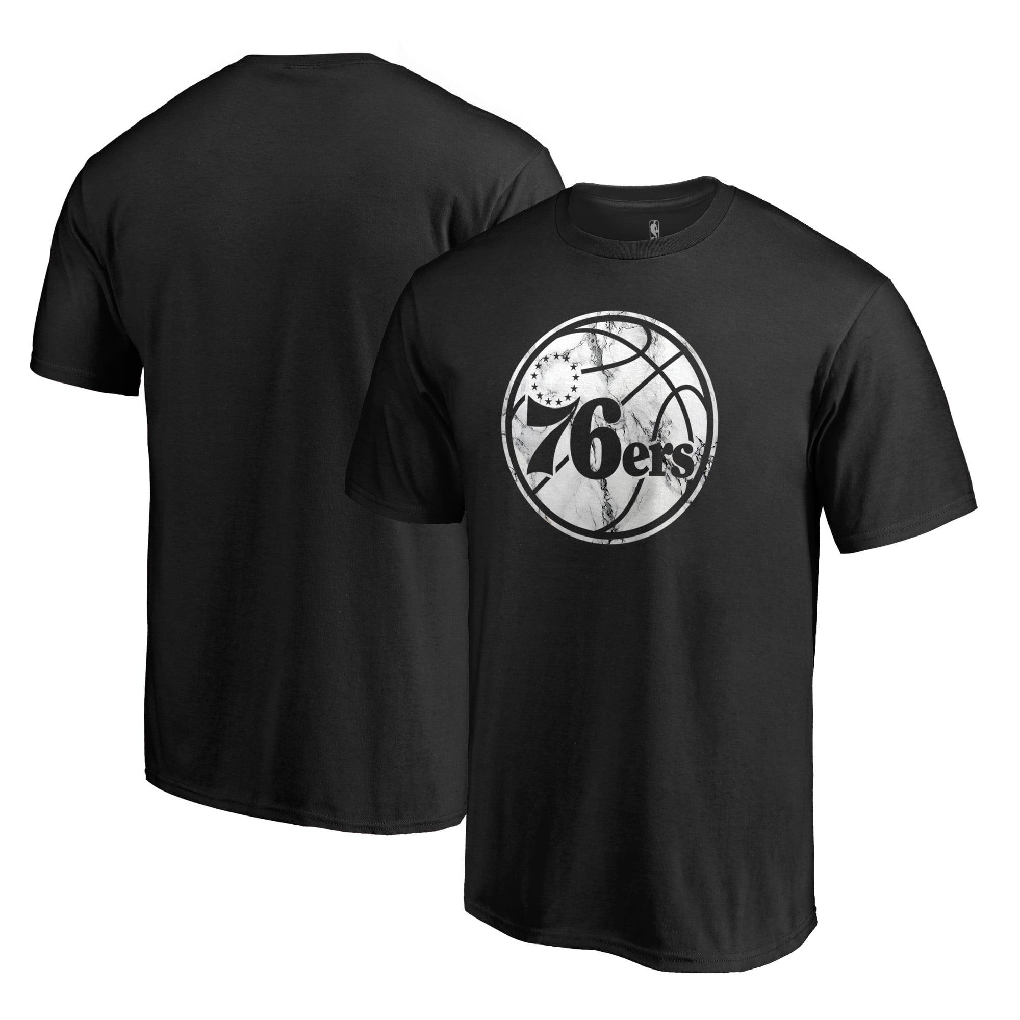 Philadelphia 76ers Fanatics Branded Marble Logo Big & Tall T-Shirt - Black