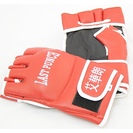 Last Punch MMA Fighting Gloves with Wrist Wrap Red S M L XL Size Good