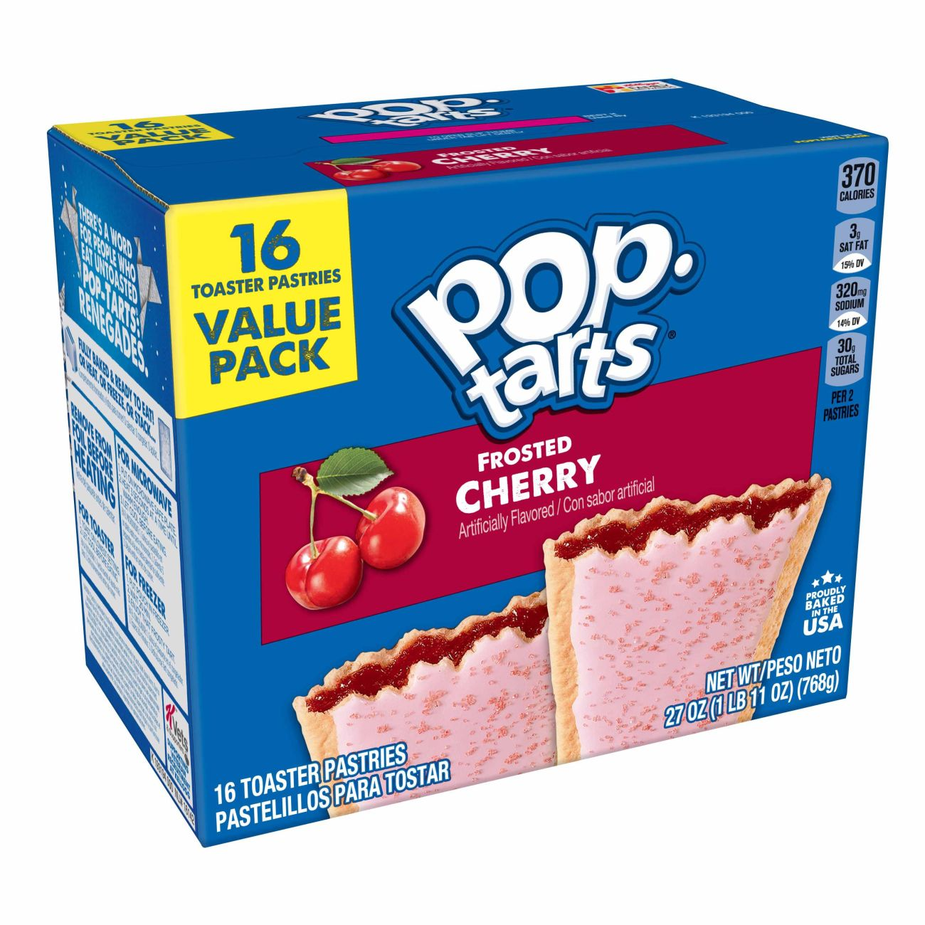 Pop-Tarts, Patriotic Frosted Red White and Cherry (36 ct ... |Walmart Cherry Pop Tarts