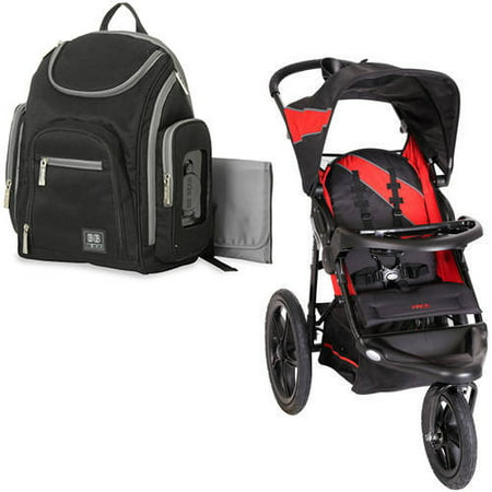 Baby trend pace jogging stroller, picante with Diaper Bag Value