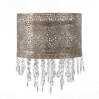 Tadpoles Chandelier-Style Shade with Beading, Gold Antique Finish