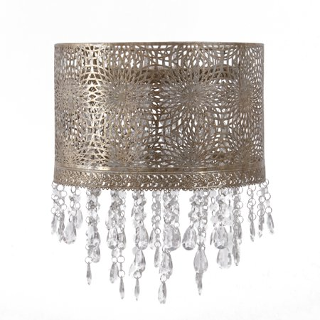 Tadpoles Chandelier-Style Shade with Beading, Gold Antique