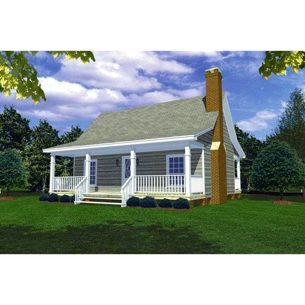 TheHouseDesigners-5713 Cottage House Plan with Basement Foundation (5 Printed Sets)