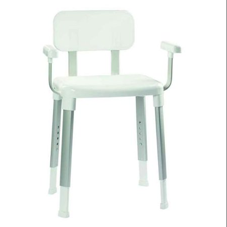 Adjustable Shower Seat With Arms In White Walmart Com