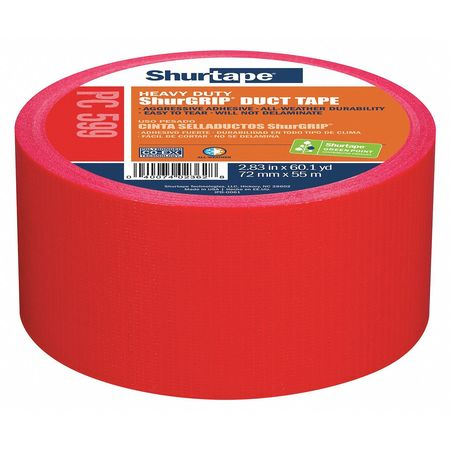 Duct Tape,55m L,5-15/16 in. D,Red SHURTAPE PC 599