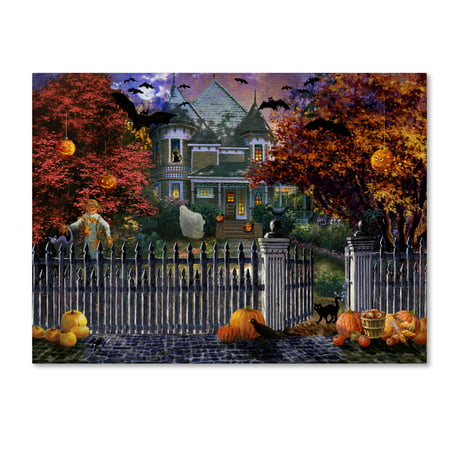 Trademark Fine Art 'Halloween House' Canvas Art by Nicky Boehme