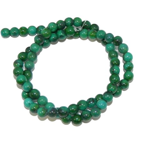 6mm Azurite Chrysocolla Dyed Round, Loose Beads, 40cm 15 inch Stone
