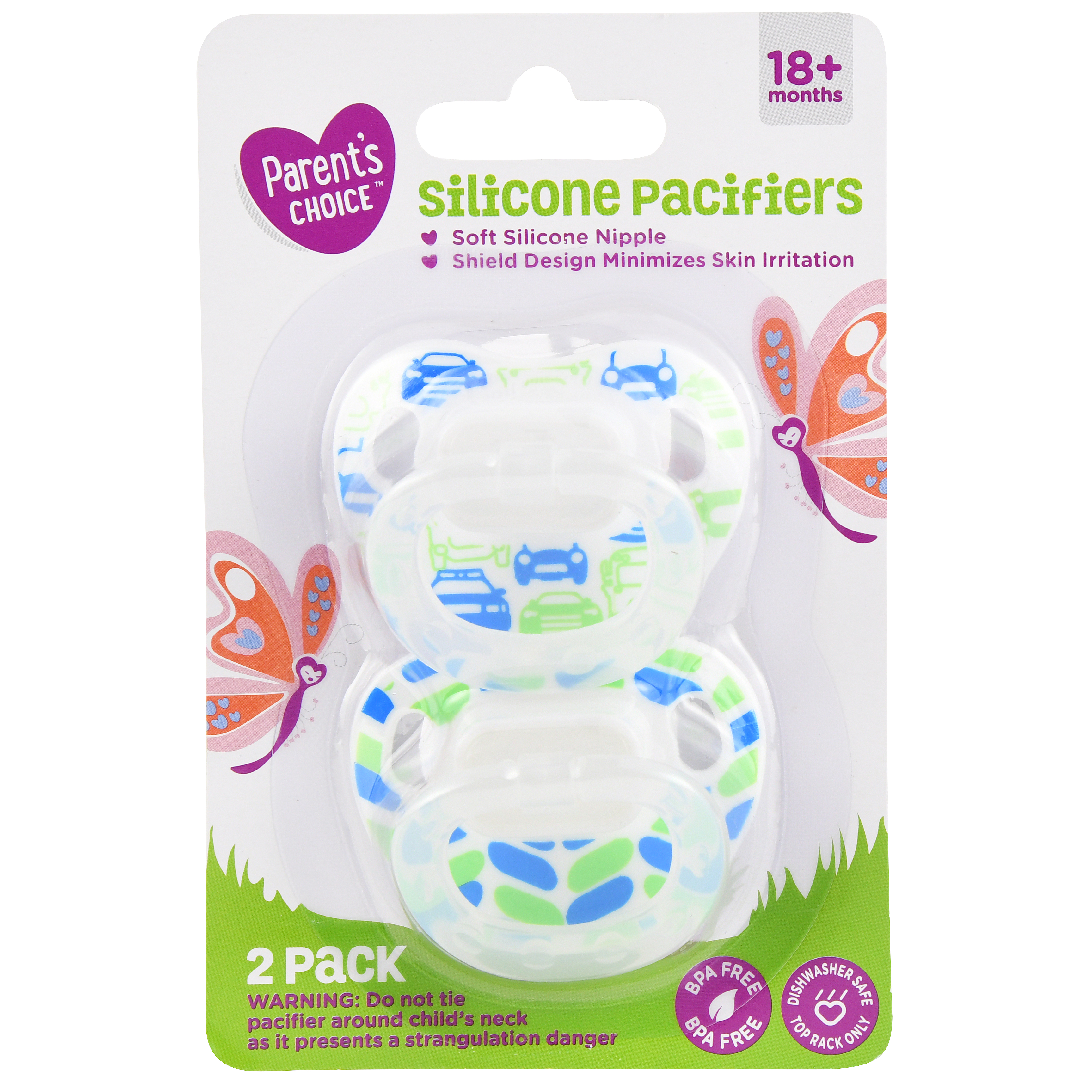 Parent's Choice Silicone Pacifiers, 2 count