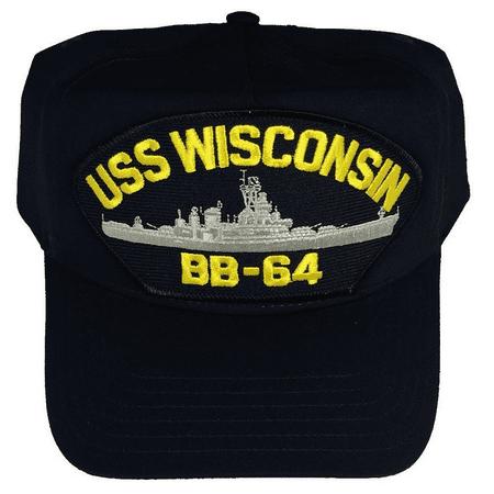USS WISCONSIN BB-64 HAT USN NAVY SHIP IOWA CLASS BATTLESHIP WISKY Iowa Class Battleship