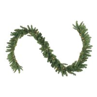 """Northlight 9' x 12"""" Prelit Canadian Green Pine Artificial Christmas Garland - Clear Lights"""