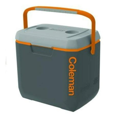 Xtreme Cooler, 28-Quart, Dark Gray/Orange/Light Gray Overmold, Coleman 3000002008 28Qt Xtreme By