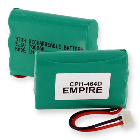 Empire CPH-464D 3.6V 1 x 3 in. 3 AAA Nickel Metal Hydride Battery 700 mAh & D Connector - 2.52 -