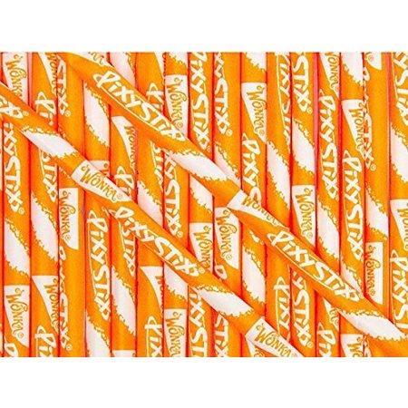 Wonka Pixy Stixs Candy Powder Orange 6 Inch 50 - Large Pixie Sticks