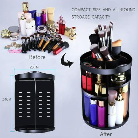 Large Capacity Cosmetic Organize Boxs 360° Rotating Makeup