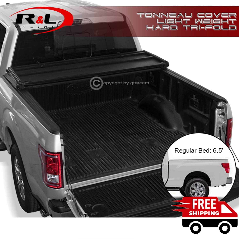 R L Racing Black Lightweight Hard Tri Fold Tonneau Cover 2016 2019 For Nissan Titan Xd 6 5 Ft Bed Walmart Com Walmart Com
