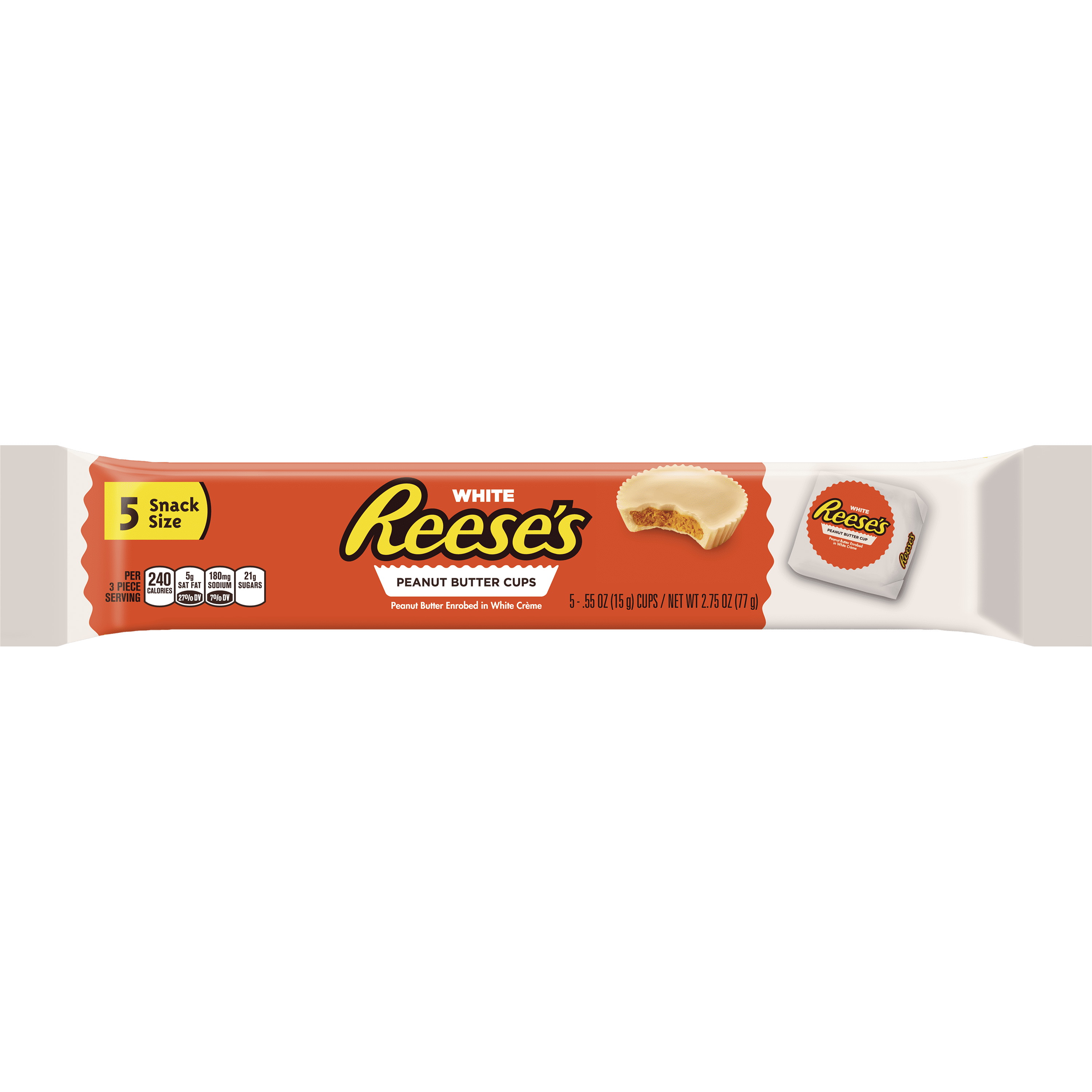Reese's Snack Size White Peanut Butter Cups Candy, 2.75 Oz.