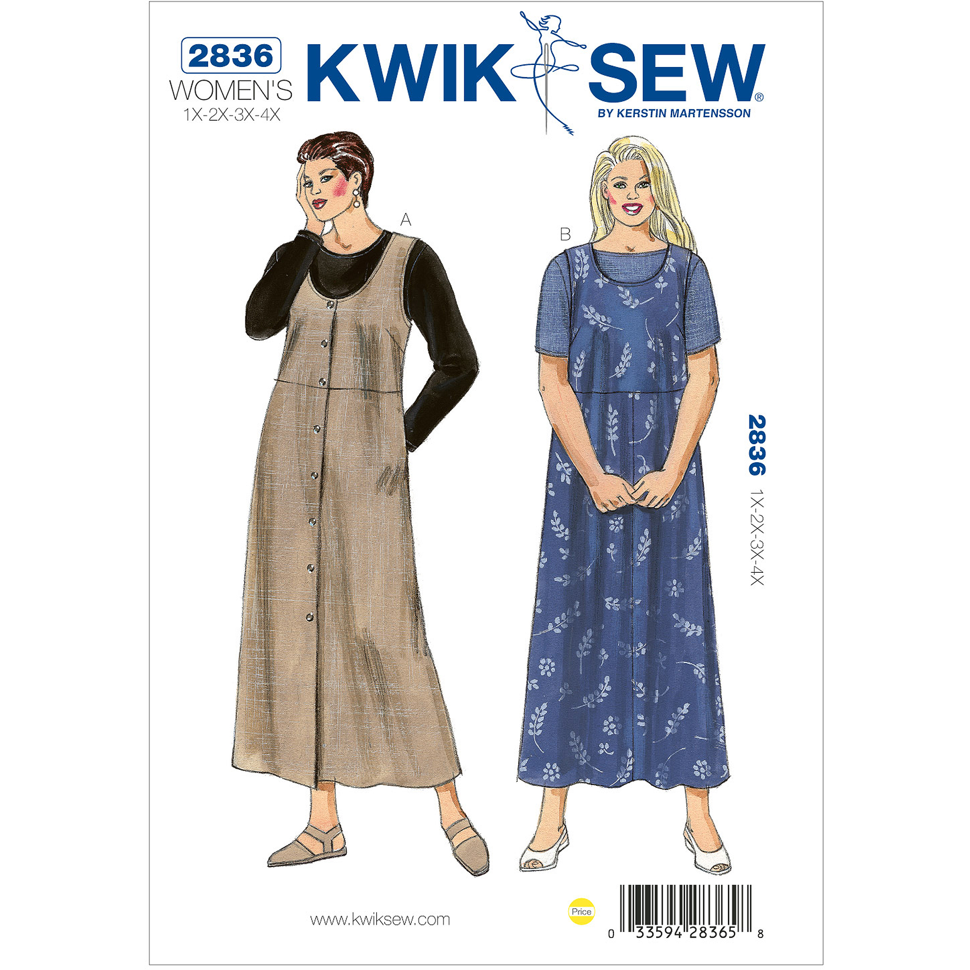Kwik Sew Pattern Jumpers and Shirts, (1X, 2X, 3X, 4X)