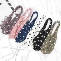 Fascigirl 5PCS Hair Bands Stylish Elastic Hair Wrap Bands Wrap Headbands Hair Accessories Wrap Headwear for Women Girls Home Travel Bath Shower Daily Shopping Outdoor